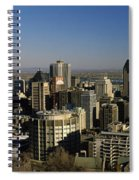 Aerial View Of Skyscrapers In A City Spiral Notebook