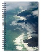 Aerial View Of Tasman Sea Shore Nz North Island Spiral Notebook