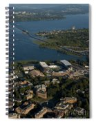 Aerial View Of The New Husky Stadium Spiral Notebook