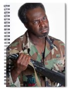 African American Man With Gun Spiral Notebook