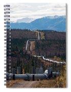 Alaska Oil Pipeline Spiral Notebook