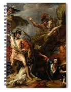 Alexander IIi Of Scotland Rescued From The Fury Of A Stag By The Intrepidity Of Colin Fitzgerald  Spiral Notebook