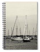 All Aboard Bw Spiral Notebook