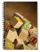 Alphabet Blocks Spiral Notebook