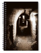 A Tunnel In The Catacombs Of Paris France Spiral Notebook