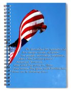 America The Beautiful - Us Flag By Sharon Cummings Song Lyrics Spiral Notebook