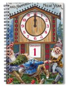 American New Years Card Spiral Notebook