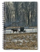 Amish Buggy And Corn Crib Spiral Notebook