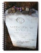 Medgar Evers -- An Assassinated Veteran Spiral Notebook