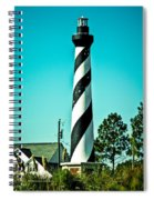 An Image Of Lighthouse In Small Town Spiral Notebook