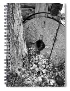 An Old Mill Stone Ely's Mill Roaring Fork Bw Spiral Notebook