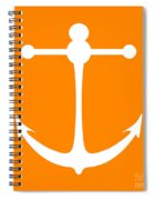 Anchor In Orange And White Spiral Notebook