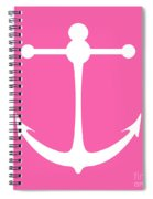 Anchor In Pink And White Spiral Notebook