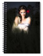Angel Sitting In The Darkness Spiral Notebook