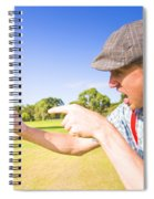Angry Golf Spiral Notebook