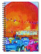 Antique Cars At The Julep Spiral Notebook