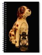 Antique Dog W Lantern Spiral Notebook