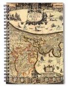 Antique Map Of Holland 1630 Spiral Notebook