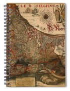 Antique Map Of Leo Belgicus 1630 Spiral Notebook