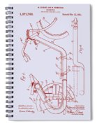 Antique Motorcycle Patent 1921 Spiral Notebook