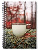Antique Teacup In The Woods Spiral Notebook
