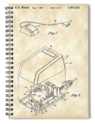 Apple Mouse Patent 1984 - Vintage Spiral Notebook
