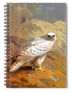 Greenland Falcon Spiral Notebook