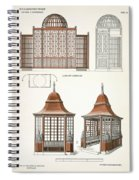 Architecture In Wood, C.1900 Spiral Notebook