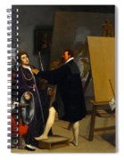 Aretino In The Studio Of Tintoretto Spiral Notebook
