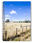 Arid Agricultural Landscape In South Tasmania Spiral Notebook