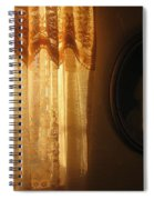Art Homage Edward Hopper Winter Light Window Curtain Reflection Bedroom Casa Grande Arizona 2005 Spiral Notebook