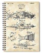 Artificial Bait Patent 1923 - Vintage Spiral Notebook