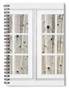Aspen Forest White Picture Window Frame View Spiral Notebook
