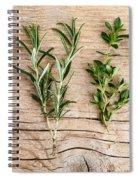 Assorted Fresh Herbs Spiral Notebook