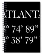 Atlanta Coordinates Spiral Notebook