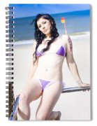 Attractive Girl On The Beach Spiral Notebook