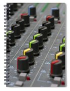 Audio Mixing Board Console Spiral Notebook