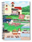 Aunt Abby's Apples Spiral Notebook