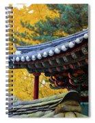 Autumn Color At Namsangol Folk Village Spiral Notebook