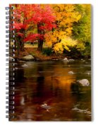 Autumn Colors Reflected Spiral Notebook