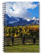 Autumn Fences Spiral Notebook
