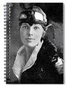Aviator Amelia Earhardt No Date-2010 Spiral Notebook