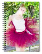Ballerina Stretching And Warming Up Spiral Notebook