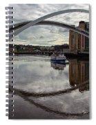 Baltic And Gateshead Millennium Bridge Spiral Notebook