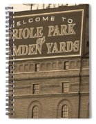 Baltimore Orioles Park At Camden Yards Spiral Notebook