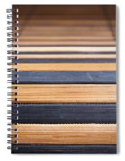 Bamboo Mat Texture Spiral Notebook