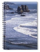 Bandon Beach Seastacks 4 Spiral Notebook