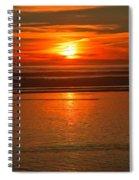 Bandon Beach Sunset Spiral Notebook