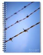 Barbed Wire Close Spiral Notebook