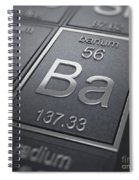 Barium Chemical Element Spiral Notebook
